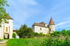 Chateau de Varennes, i Beaujolais arkivbilder