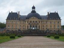 CHATEAU de VAUX le VICOMTE, framdelen av störst privat franska rockerar på barock stil Fotografering för Bildbyråer
