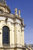 Chateau de Versailles. Facade details with sculptures and bas-relief royalty free stock image