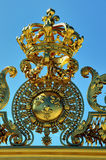Chateau de Versailles. Golden French King Crown, t Stock Images