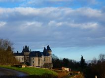 Chateau de Verteuil  in Verteuil-sur-Charente, France. Old casle on the river bank royalty free stock photography
