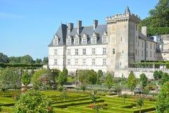 Chateau De Villandry/castello di Villandry Fotografia Stock Libera da Diritti