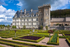 Chateau de Villandry is a castle-palace located in Villandry, in Royalty Free Stock Image