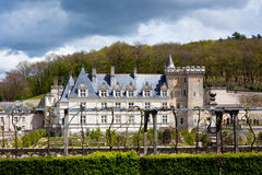 Chateau de Villandry in department of Indre-et-Loire, France. Stock Photo