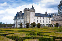 Chateau de Villandry in der Abteilung des Indre-et-Loire, Frankreich. Lizenzfreies Stockfoto