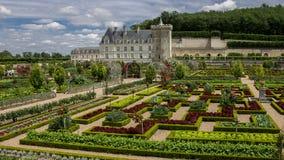 Chateau de Villandry el valle del Loira Francia Imagen de archivo
