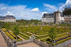 Chateau de Villandry i avdelning av Indre-et-Loire, Frankrike. Royaltyfria Bilder