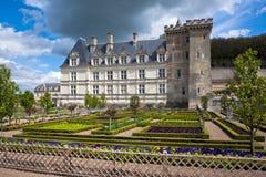 Chateau de Villandry, Indre-et-Loire, Frankrike. Royaltyfria Foton