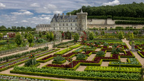 Chateau de Villandry Loire Valley France Stock Image