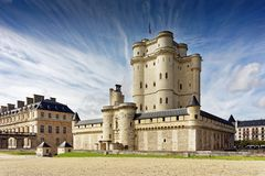 Chateau de Vincennes in Paris Royalty Free Stock Images