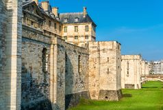 The Chateau de Vincennes, a 14th and 17th century royal fortress near Paris in France. The Chateau de Vincennes, a 14th and 17th century royal fortress near stock image