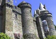 Chateau de Vitre - medieval castle in the town of Vitre, France. Chateau de Vitre - medieval castle in the town of Vitre, Brittany, France royalty free stock image