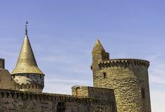 Chateau de Vitre - medieval castle in the town of Vitre, France. Chateau de Vitre - medieval castle in the town of Vitre, Brittany, France stock photos