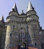 Chateau de Vitre - medieval castle in the town of Vitre, France. Chateau de Vitre - medieval castle in the town of Vitre, Brittany, France stock images