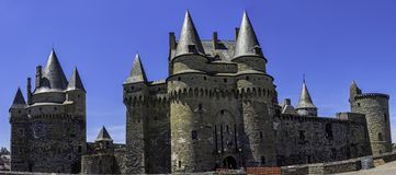 Chateau de Vitre -  medieval castle in the town of Vitre, France. Chateau de Vitre -  medieval castle in the town of Vitre , Brittany, France royalty free stock photos