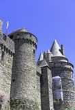Chateau de Vitre - medieval castle in the town of Vitre, France. Chateau de Vitre - medieval castle in the town of Vitre, Brittany, France royalty free stock images