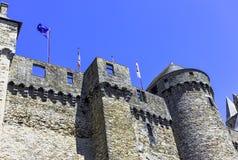 Chateau de Vitre -  medieval castle in the town of Vitre, France. Chateau de Vitre -  medieval castle in the town of Vitre, Brittany, France royalty free stock photos