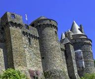 Chateau de Vitre - medieval castle in the town of Vitre, France. Chateau de Vitre - medieval castle in the town of Vitre, Brittany, France stock photography