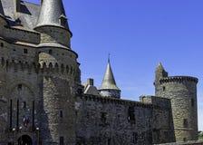 Chateau de Vitre - medieval castle in the town of Vitre, France. Chateau de Vitre - medieval castle in the town of Vitre, Brittany, France stock photo
