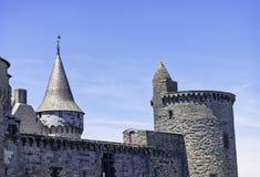 Chateau de Vitre - medieval castle in the town of Vitre, France. Chateau de Vitre - medieval castle in the town of Vitre, Brittany, France royalty free stock photo