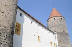 chateau De Yverdon列斯Bains 免版税图库摄影
