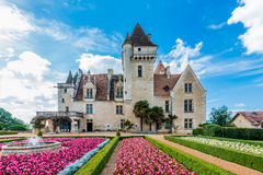 Chateau des milandes. Who belong to josephine baker in dordogne perigord France royalty free stock photo