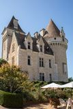 Chateau des Milandes, a castle  in the Dordogne, from the forties to the sixties of the twentieth century belonged to Josephine Ba. Milandes, France - September stock photography