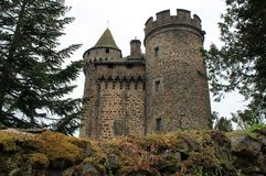 Chateau des Ternes, Cantal ( France ) Stock Images