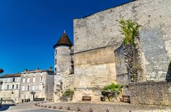 The Chateau des Valois, a medieval castle in Cognac, France. The Chateau des Valois, a medieval castle in Cognac - France, Charente royalty free stock images