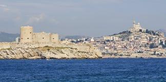 Chateau-dIf und Marseille in Frankreich Stockfotos