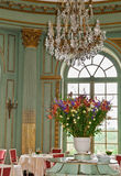 Chateau Dining. The dining room of a french chateau stock image
