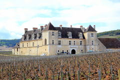 The Chateau du Clos de Vougeot in Burgundy. Symbol of the famous Burgundian vineyard Stock Photography