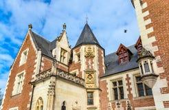 Chateau du Clos Luce a Amboise, Francia fotografia stock