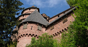 The chateau du Haut Koenigsbourg in Alsace Royalty Free Stock Images