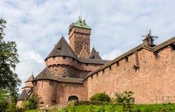 Chateau du Haut-Koenigsbourg - Alsace Images stock