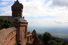 Chateau du Haut-Koenigsbourg, Alsace, France Royalty Free Stock Photo