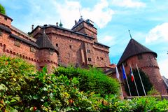 Free Chateau Du Haut-koenigsbourg, Medieval Castle In Alsace Royalty Free Stock Image - 115136556