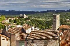 Chateau du Puy de Tourrettes Fayence roof tops Stock Image