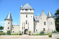 Chateau Du Rivau / Rivau Castle. The Rivau castle (locally known as Chateau Du Rivau) is a castle-place surrounded by garden. It is situated in Lemere, in the stock photo