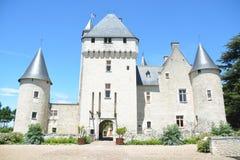 Chateau Du Rivau/Rivau-Kasteel stock foto
