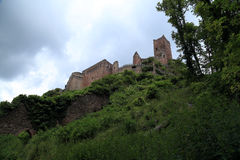 Chateau du Saint Ulrich in  Ribeauville, Alsace, France Stock Photo