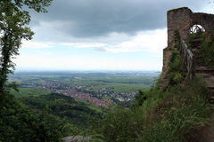 Chateau du Saint Ulrich in  Ribeauville, Alsace, France Royalty Free Stock Photos