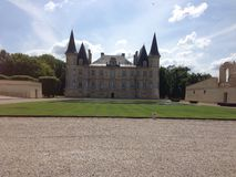 Chateau du vin Arkivbild