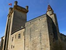 Chateau Ducal (Le Duche), Uzes ( France ). View of Tour Bermonde (Bermonde Tower) and Tour de la Vicomté, Duché Palace of Uzès, Gard (France Stock Images