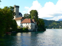 Chateau, Duingt ( France ). Chateaux de Duingt, Lake Annecy, France Royalty Free Stock Image