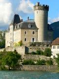 Chateau, Duingt (Frankrijk) Stock Foto's