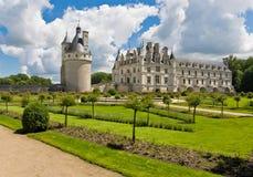Chateau e giardino Chenonceau Fotografia Stock Libera da Diritti