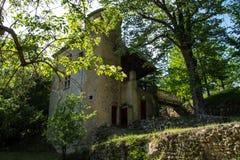 Grand viopis,drome,france. Chateau en foret dans la drome stock image