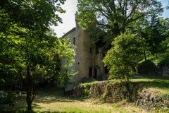 Grand viopis,drome,france. Chateau en foret dans la drome royalty free stock photography