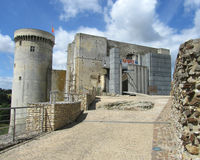 Chateau of Falaise, France. The imposing childhood home of William the Conqueror in Falaise in Normandy, France Stock Images
